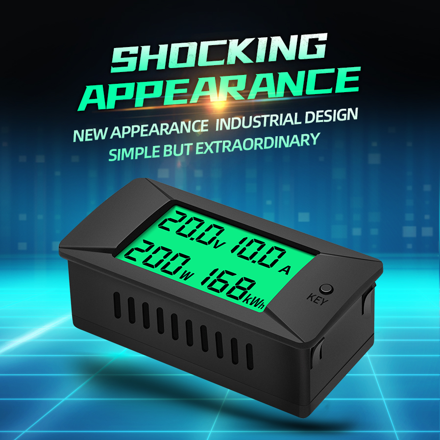 PZEM-025 Nieuwste 0-300V 100A Shunt Bulit Dc Digitale Batterij Tester Bidirectionele Ampèremeter Voltmeter Power Energy watt Meter 2