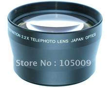Lente teleobjetivo para cámara canon, nikon, fujifilm, olympus, panasonic, sony, 72 tamaños de filtro, 72mm, 2.2X