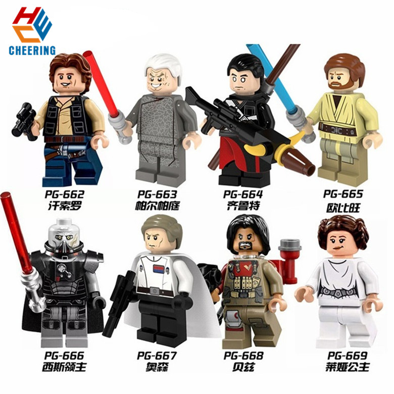 Single Sale Super Hero Building Block Han Solo Palpatine Qilu Special Obi-Wan Sith Lord Orson Baez Gift Toy For Kids PG8024