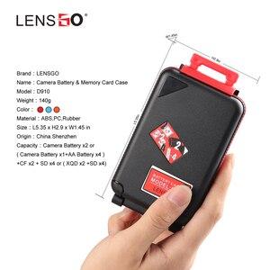 Image 4 - Lensgo D910 Pin Máy Ảnh Dành Cho Canon LP E6N/LP E17/Sony NP FW50/NP FZ100 EN EL15, SD CF Thẻ XQD Thẻ Chống Nước Lưu Trữ Giá Đỡ