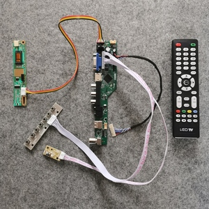 1280*800 vga + av + usb 20 pinos lvds caber ltn133at07/ltn133at08 tela 1ccfl diy kit universal lcd unidade controlador placa monitor