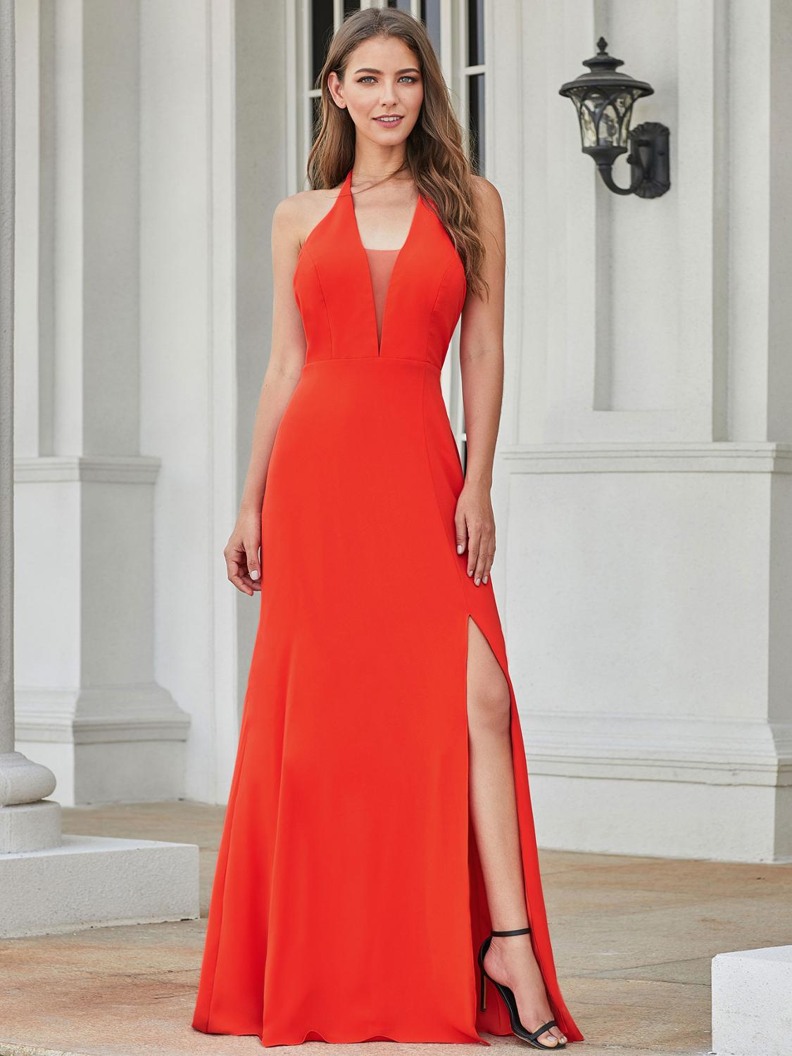 Party-Gowns Evening-Dresses Sukienka Ever Pretty Formal Elegant Long Sleeveless Simple