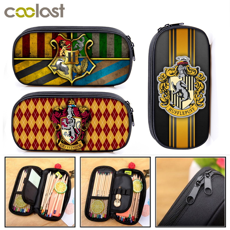 Hogwarts Gryffindor Slytherin Cosmetic Cases Pencil Bag Boy Girl School Case Kids Pencil Box Children Stationary Bag