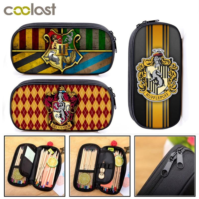 Hogwarts Gryffindor Slytherin Cosmetic Cases Pencil Bag Boy Girl School Case Kids Pencil Box Children Stationary Bag
