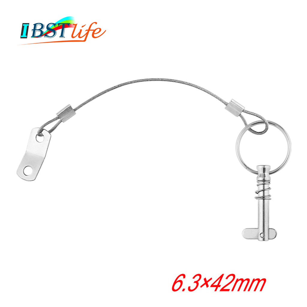 6.3mm 1/4 Inch Quick Release Pin With Lanyard For Boat Bimini Top Deck Hinge Marine Hardware Stainless Steel 316 Boat
