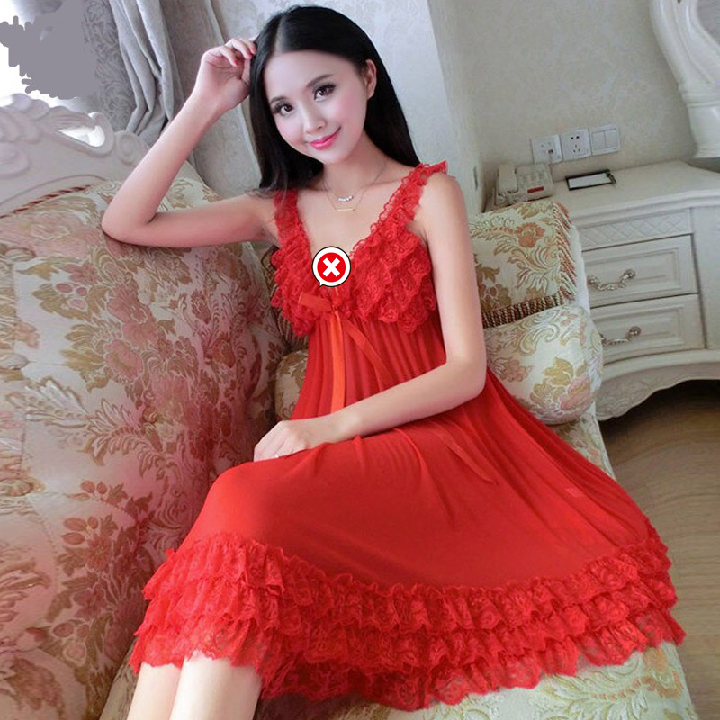 Red sexy dress, high quality womens dress Female Sexy Edge Skirt