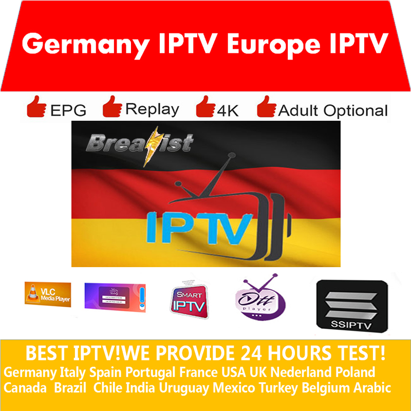 Europe IPTV Germany Italy Spain France M3u Subscription Iptv 4k 1 Year USA Nederland Poland 6000+Live With Adult Smart TV MAGBOX