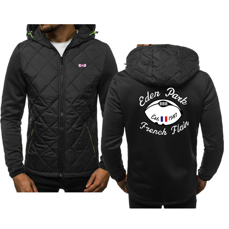 Men's Fashion Sweatshirts Hoodies Spliced Eden Park Letters Printing Autumn Winter Zipper Sweatshirt Men Hoodies Streetwear Coat
