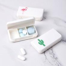 1 قطعة نمط بسيط قرص طبي لدن صناديق طبية محمولة ثلاثة تخزين