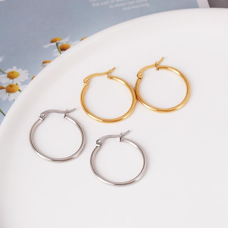 Hoop Earring For Women Round Big Circle Earrings Fashion Jewelry Ear Accessories CLOVER JEWELLERY