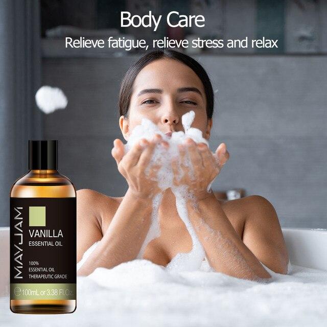 10ml 30ml 100ml Vanilla Essential Oil Diffuser Aroma Oil with Dropper Pure Natural Essential Oils for Humidifier Relief Migraine 4