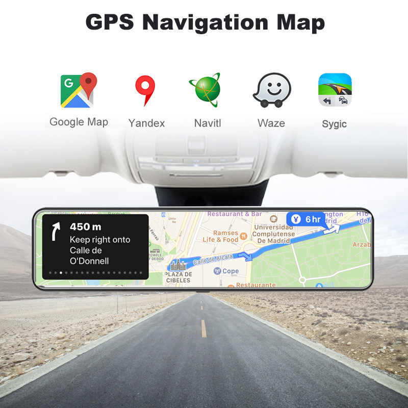 Obdpeak D80 Smart Android Kaca Spion Mobil Auto Perekam 4G Wifi Gps Navigasi Spion Mobil DVR DASH cam Cermin DVR