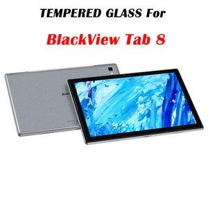 Para blackview tab 8 vidro 10.1 9 9h capa completa tablet protetor de tela vidro temperado para vista preta tab8 10.1 película protetora