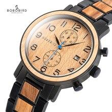 BOBO BIRD Wood Watch Men relogio masculino Chronograph