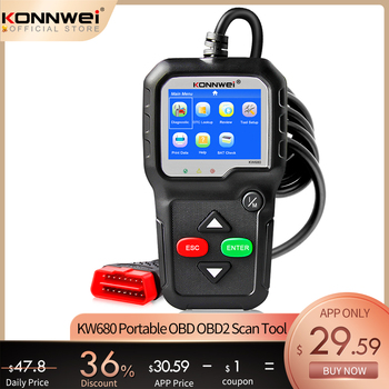 OBD2 Scanner OBD 2 Car Diagnostic Auto Diagnostic Tool KONNWEI KW680S Russian Language Car Scanner Tools Diagnostic Scanner launch x431 crp123i obd obd2 coder reader scanner 4 system diagnostic obd 2 auto scanner car diagnostic tool vs crp123x crp123e
