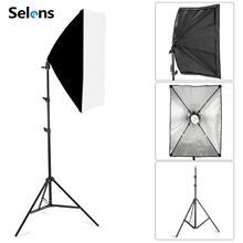 Fotoğraf Softbox aydınlatma kitleri 50x70CM profesyonel sürekli ışık sistemi için fotoğraf stüdyosu ekipmanları 2m Tripod
