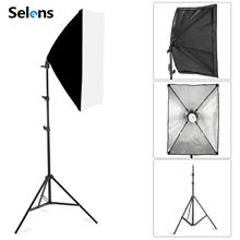Nuova Fotografia Softbox Kit di Illuminazione 50x70CM Softbox Professionale Continuo Sistema di Illuminazione Per La Foto In Studio Attrezzature 2m treppiede