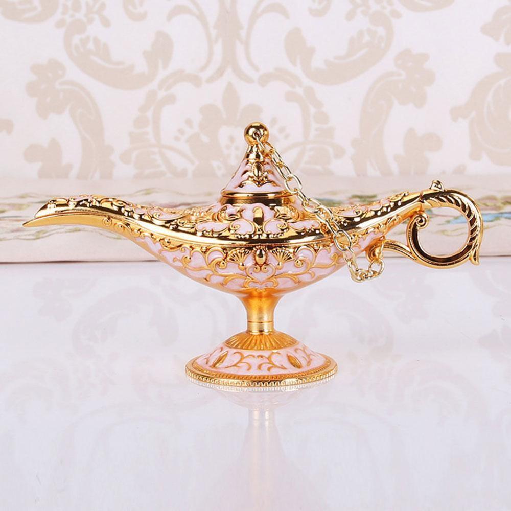 European Imitation Classical Crafts Decoration Creative Ornaments Props Wishing Lamp Gift Metal Trumpet Aladdin Magic Lamp Deskt