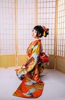 Luxury Japanese Kimono Yukata With Obi High Quality Classic Yukata Printed Japan Style Lady Formal Evening Dress Cosplay Costume
