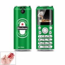 Carino Pocket Mini Del Telefono Mobile SATREND K8 X8 1.0 pollici cola forma Telefoni MP3 Bluetooth dialer Chiamata di registrazione piccolo Cellulare