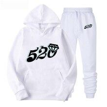 2019 NEW Black and white number 520 diamond hoodie women hoodie sweatshirt streetwear sweatshirts men long sleeves hoodies men p black embroidered hoodie long sleeves mini sweatshirt