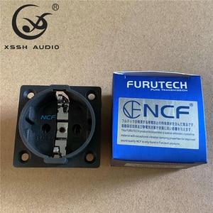 Image 3 - 4 pièces pur cuivre plaqué Rhodium or NeutralFI E30 AC 250V 16A ue Euro Schuko 2 broches IEC entrée prise de courant châssis prise