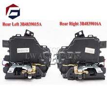 цена на fast shipping 2pc Rear Left + right Door Lock Mechanism For VW GOLF BORA LUPO PASSAT B5 MK4 3B4839015A 3B4839016A For SEAT
