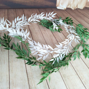 Image 4 - 190CM artificial wedding decoration fake vine plant leaf garland home garden wall eucalyptus faux plants fake plant
