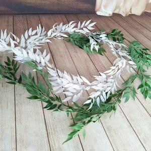 Image 4 - 190CM sztuczna dekoracja ślubna fałszywy winorośli liść rośliny garland strona główna ściana ogrodu eukaliptus faux rośliny sztuczna roślina