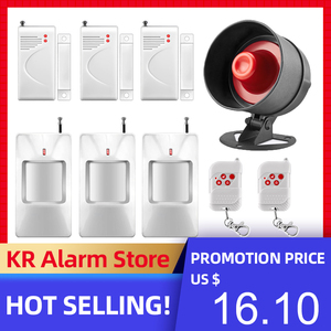 Image 1 - FUERS Alarm Siren Home Security System Wireless Siren Loudly Sound for House Garage 100dB Volume PIR Motion Detector Controller