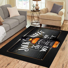 Jack Daniels Carpets Soft Flannel 3D Printed Area Rugs Parlor Rugs Anti-slip Large Rug Carpet for Living Room Decor
