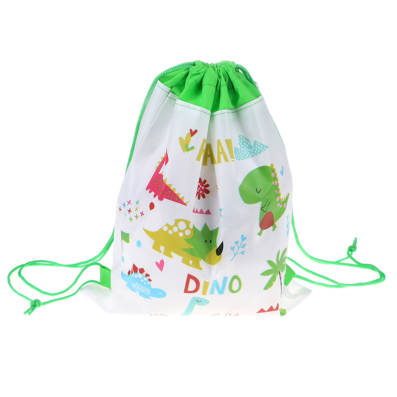 10PCS Cartoon Dinosaur Drawstring Backpack Bags Children Organizer Pouch Baby Clothes Clothings Laundry Bag