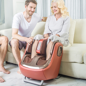 Image 3 - חשמלי רגל ורגל והברך לעיסוי אינפרא אדום חימום רגליים עגל עיסוי מכונה אוויר לחץ אוויר דחיסה Massagem