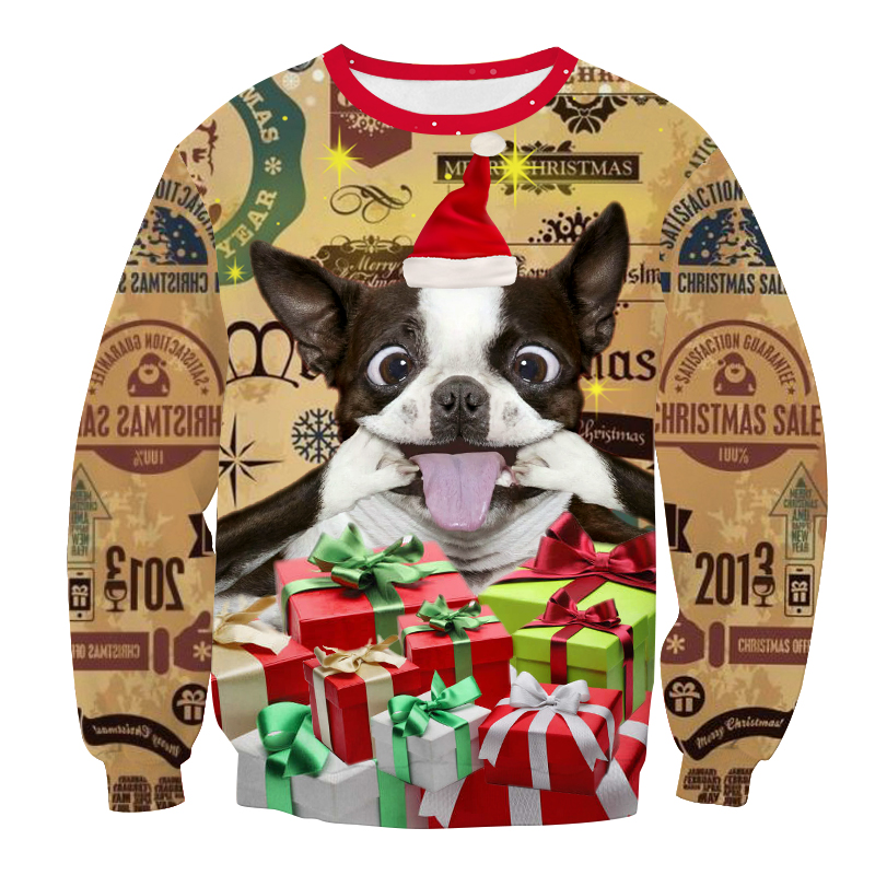 New Funny Ugly Christmas Sweater Unisex Men Women Vacation Pullover Sweaters Jumpers Tops Novelty Autumn Winter Clothing