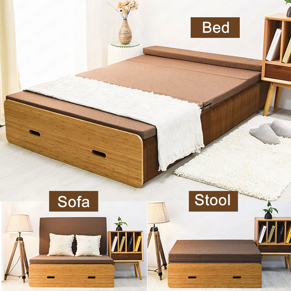 - Free Shipping Bearing 1000kg Folding Double Bed With Mattress Gift Sofa Bed  Frame Tatami Chair Stool Queen King Kids Furniture- AliExpress