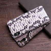 Genuine Leather Python phone case For iPhone 11 Pro X XS max XR 6s 6 7 8 8 plus snakeskin luxury marvel protective cases