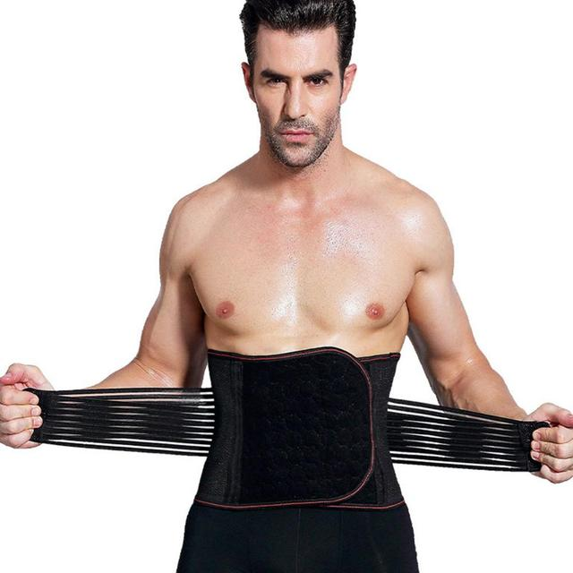 New Arrive Body Shaper Waist Trainer Slimming Shapewear Men Neoprene Sweat Weight Loss Belt Gym Fitness Modeling Strap Corset 1