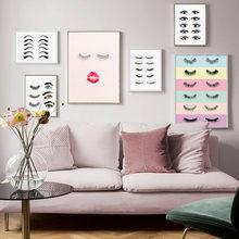Moda kirpik uzantıları teknisyen kılavuzu göz posterler ve baskılar makyaj duvar sanatı tuval yağlıboya duvar resimleri Salon ev dekor