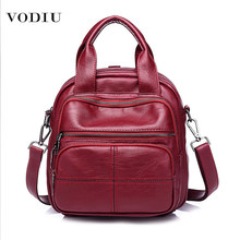 Women Backpack Schoolbag Mini Waterproof Casual New Multifunction School Bags for Teenage Girls Travel PU Leather Backpack Women(China)