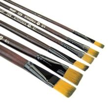 Oil-Painting-Brush-Set Watercolor Acrylics Nylon-Hair Different-Size 6pcs/Set