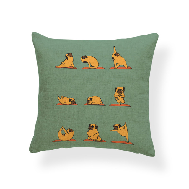 Animal Yoga Cushion Covers 6