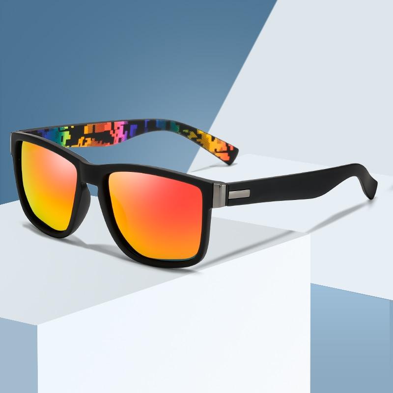 Brand Design Men Polarized Sunglasses Male Square Driving Sun Glasses Vintage Coating Mirror Sunglass UV400 Shades oculos de sol