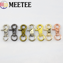 4pc/10pcs Metal Bag Buckle Key Ring Lobster Clasps Swivel Trigger Clips Snap Buckles Hooks for Bags DIY Connection Accessories