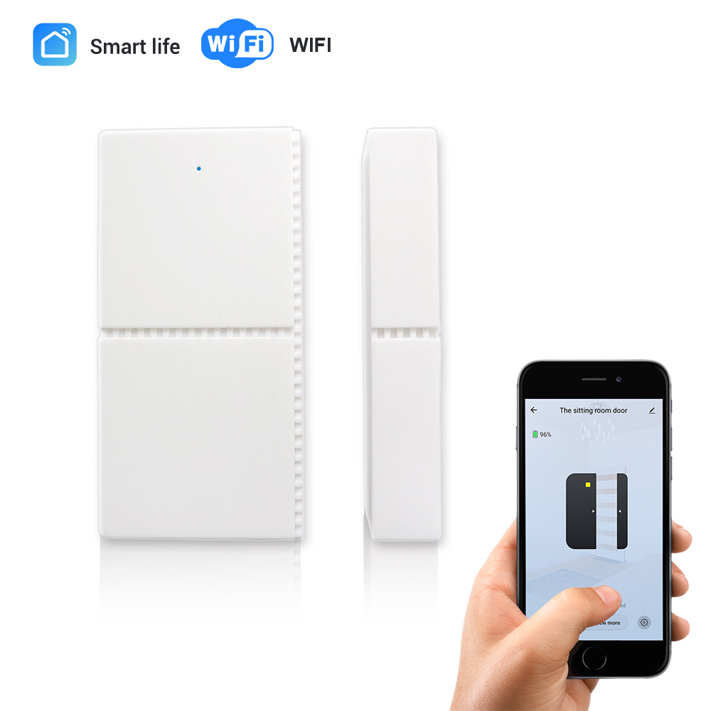 CPVan WIFI Window Door Sensor Smart Life APP Door Detector Android IOS Control Wireless Door Detector Alarm for Home Security image