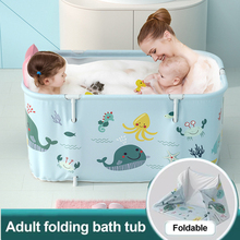 Inflatable Foldable Bathtub with Pillow Outdoor Tub SPA Bath Bucket Adult Baby Swimming Pool Household Family Bathroom Tub Pump