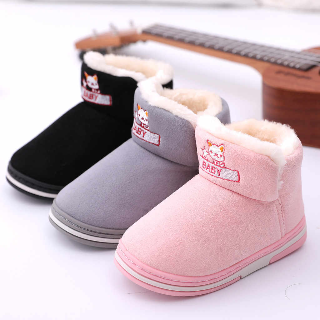 Toddler Boots Winter Ankle Short Bootie Waterproof Footwear Warm Kid's Shoes Children's shoes Children's boots New Brand