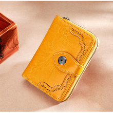 2019 RFID Fashion Hollow Out Genuine Leather Women Wallet an