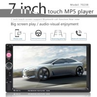 FM modulator Car Multimedia Audio player Stereo 7 inch MP5 Music Player screen Mp3 player HD MP5 BT player FM SWM 7023B Vedio