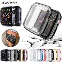 360 Cover per orologio sottile per Apple Watch Case 6 SE 5 4 3 2 1 42MM 38MM proteggi schermo in TPU trasparente morbido per iWatch 4 3 44MM 40MM