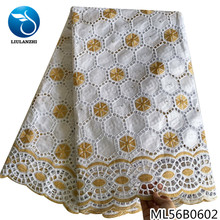 LIULANZHI  Hollowed out  bazin lace fabric 5 yards Hot sale African bazin riche fabric with Brocade  ML56B09/ML56B08 liulanzhi white bazin african riche fabric cotton african embroidery jaquards riche fabric for dress ml56b08
